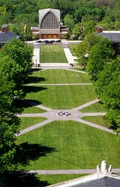 Aerial view of Eastman Quad.