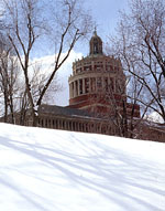 A Wintery Rush Rhees Library